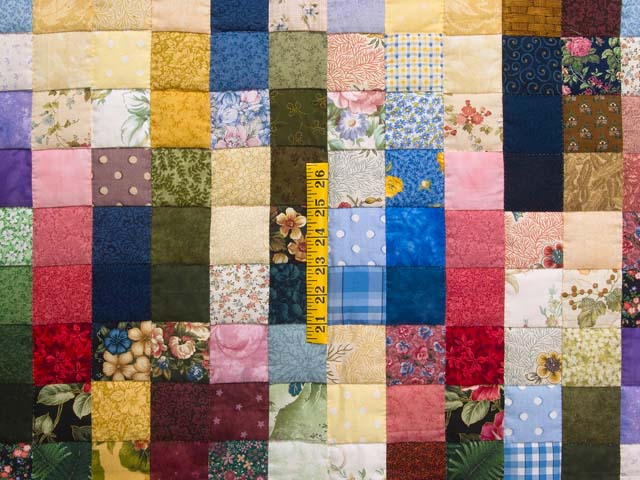 Multicolor Hit or Miss Quilt Photo 4