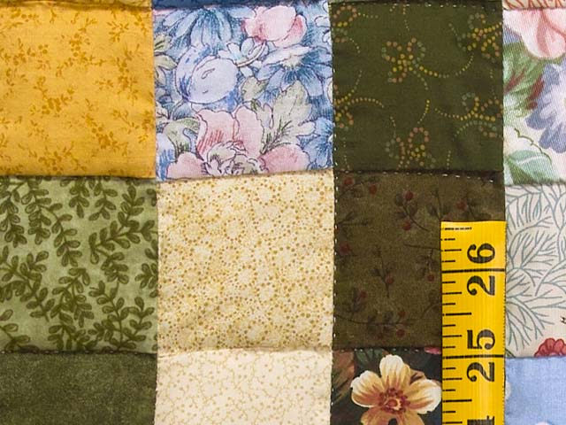 Multicolor Hit or Miss Quilt Photo 5
