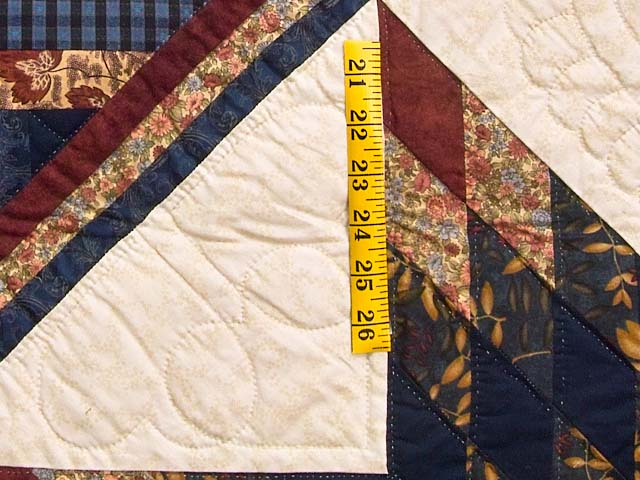 Navy and Multicolor Lone Star Log Cabin Quilt Photo 5