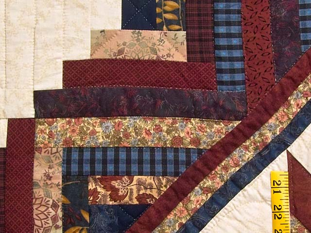 Navy and Multicolor Lone Star Log Cabin Quilt Photo 6