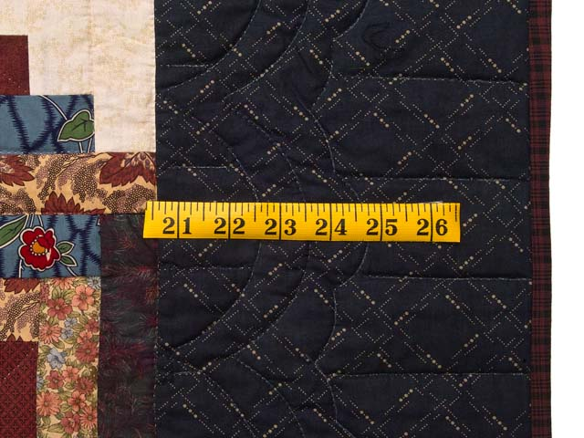 Navy and Multicolor Lone Star Log Cabin Quilt Photo 7