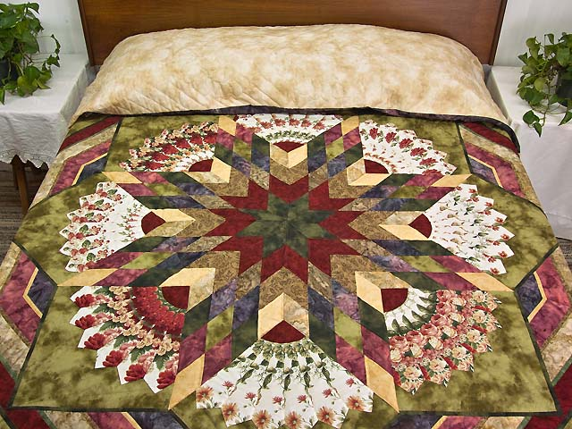 Rose and Moss Green Bertha Quilt Photo 1