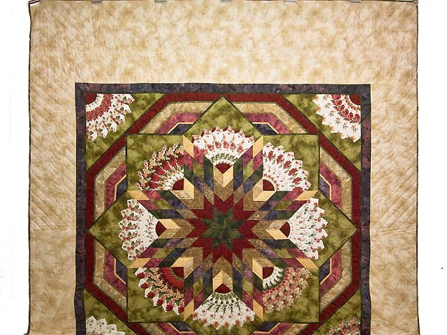 Rose and Moss Green Bertha Quilt Photo 2