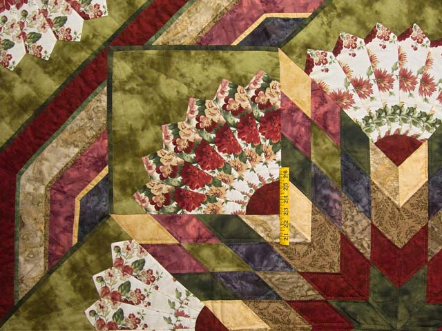 Rose and Moss Green Bertha Quilt Photo 4