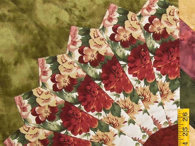 Rose and Moss Green Bertha Quilt Photo 5