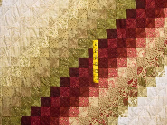 Paprika and Golden Wheat Color Splash Quilt Photo 4