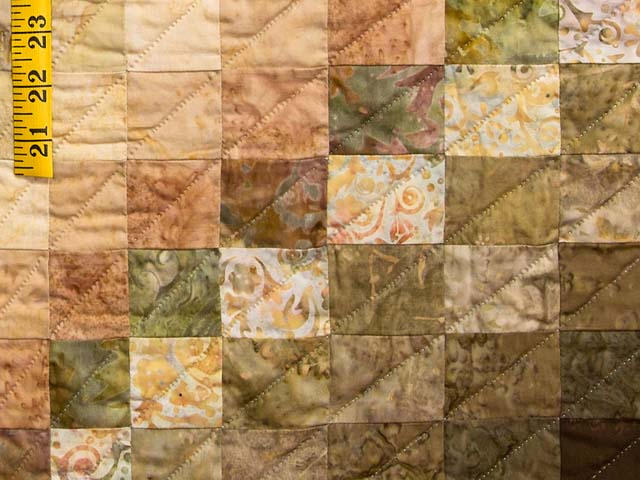 Plum Moss and Salmon Bargello Wave Quilt Photo 6