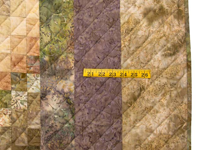 Plum Moss and Salmon Bargello Wave Quilt Photo 7