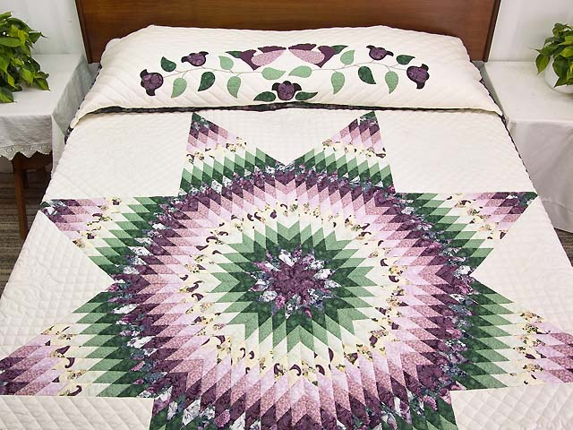 Lavender and Green Lone Star Country Bride Quilt Photo 1