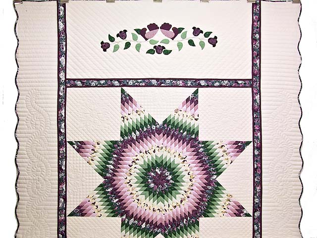 Lavender and Green Lone Star Country Bride Quilt Photo 2