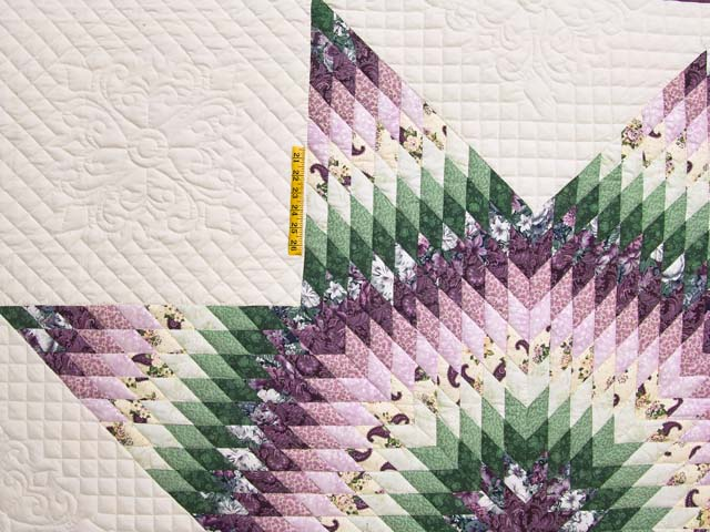 Lavender and Green Lone Star Country Bride Quilt Photo 4