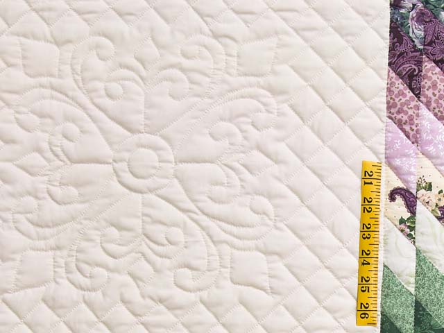 Lavender and Green Lone Star Country Bride Quilt Photo 5