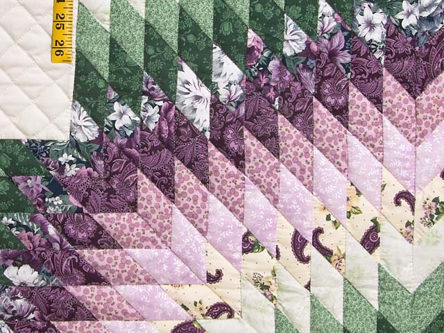 Lavender and Green Lone Star Country Bride Quilt Photo 6