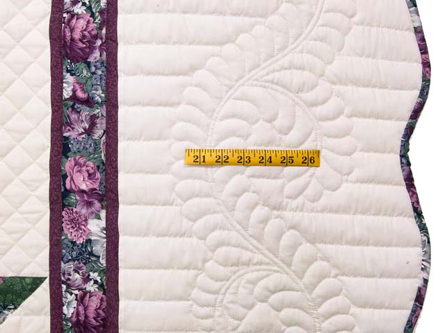 Lavender and Green Lone Star Country Bride Quilt Photo 7