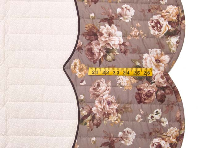 Plum Mauve and Green Heart of Roses  King Size Bed Quilt Photo 7