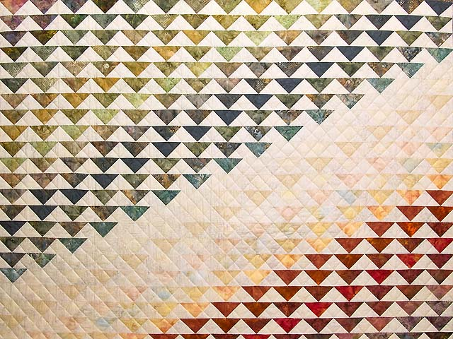 Hand Painted Rainbow Pyramid Quilt Photo 3