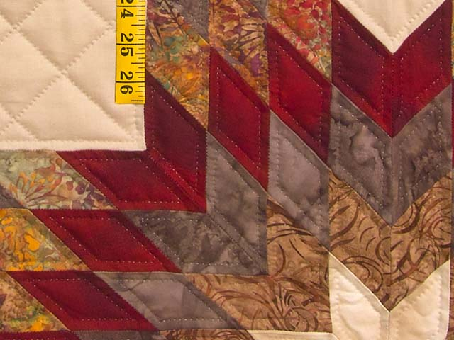 Fire Red Gold and Brown Star Quest Quilt Photo 5