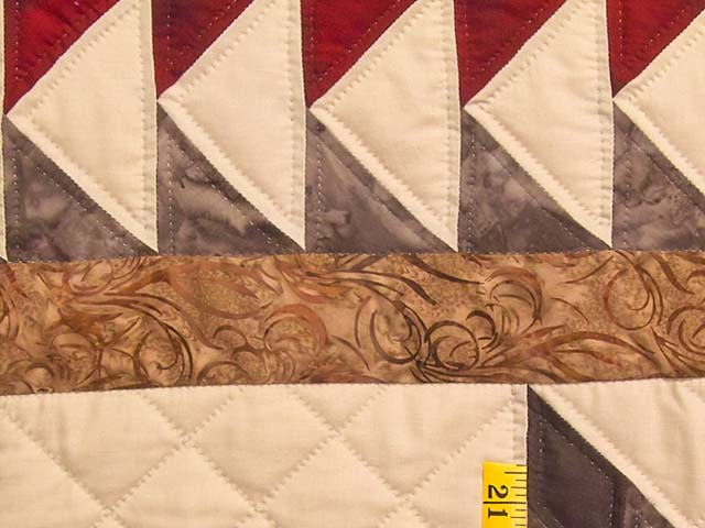 Fire Red Gold and Brown Star Quest Quilt Photo 6