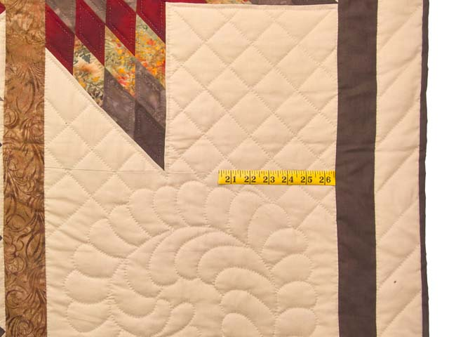 Fire Red Gold and Brown Star Quest Quilt Photo 7