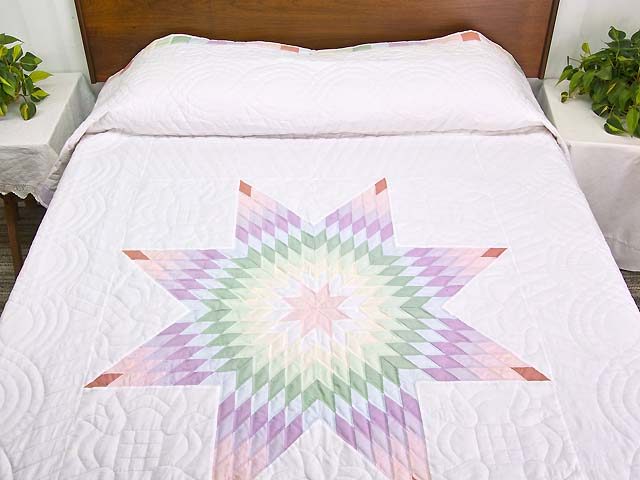 Full Size Pastel Lone Star Quilt Photo 1