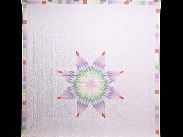 Full Size Pastel Lone Star Quilt Photo 2