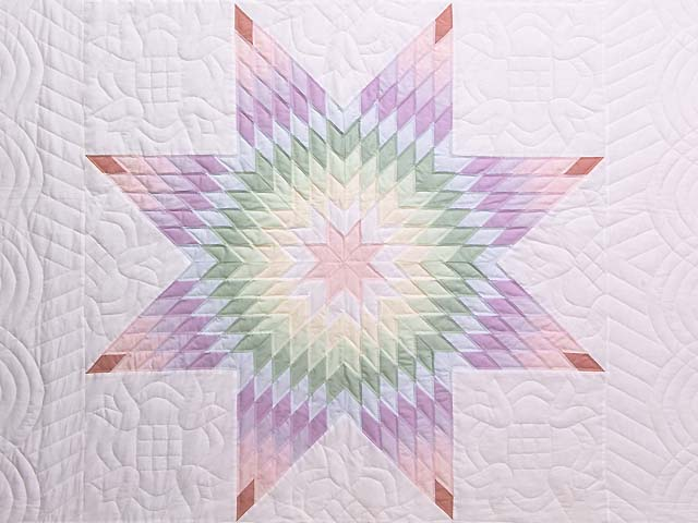 Full Size Pastel Lone Star Quilt Photo 3
