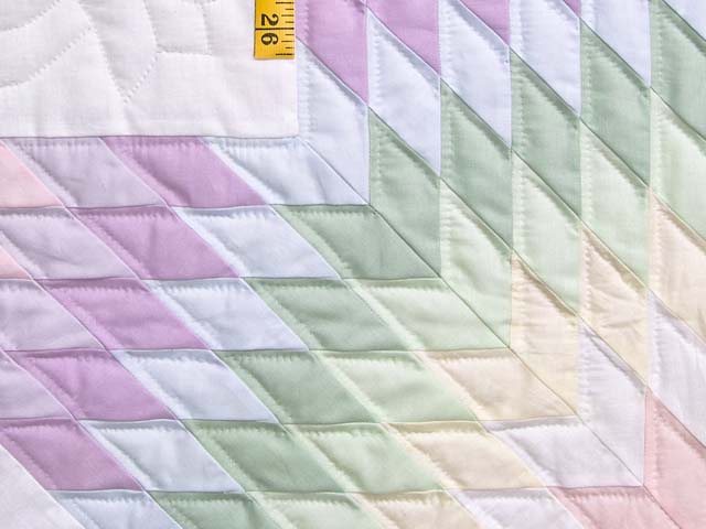 Full Size Pastel Lone Star Quilt Photo 6