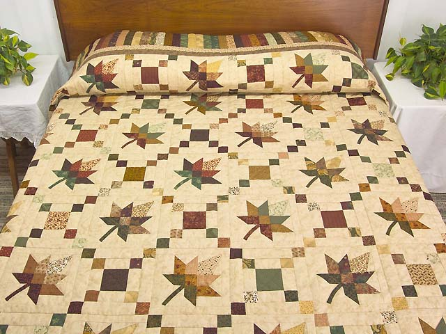 King Earthtones Autumn Wind Quilt Photo 1