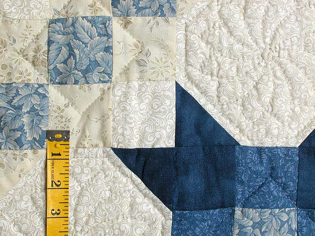 Blue and Cream Snowball Quilt Photo 5