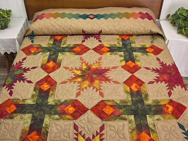 King Feathered Star Quilt Photo 1