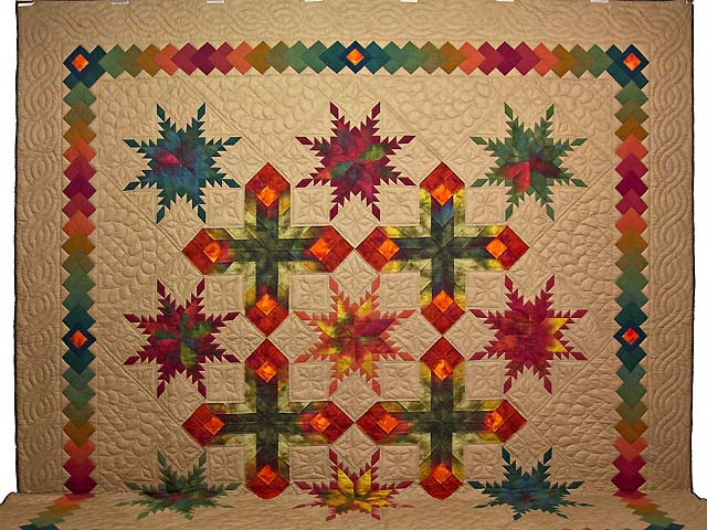 King Feathered Star Quilt Photo 2