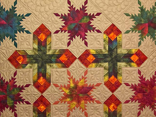 King Feathered Star Quilt Photo 3
