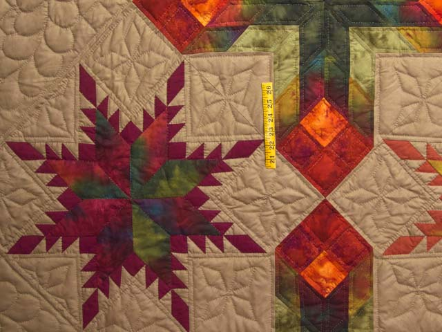 King Feathered Star Quilt Photo 4