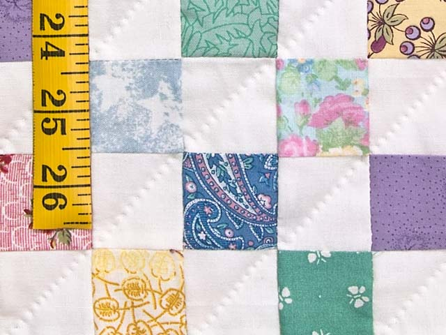 Bright Multicolor Postage Stamp Hit or Miss Quilt Photo 6