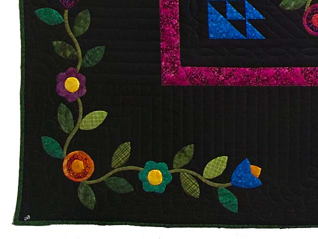 King Flower Power Quilt Photo 7