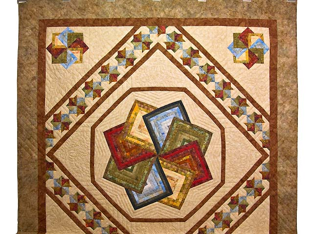 Hand Painted Star Spin Quilt Photo 2