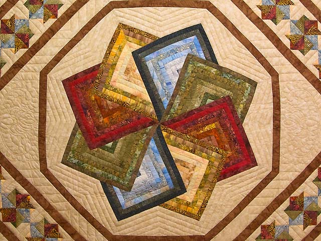 Hand Painted Star Spin Quilt Photo 3