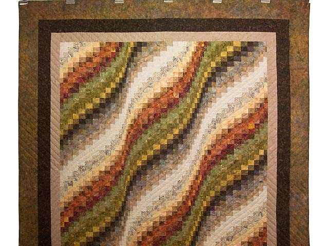 Hand Painted Bargello Wave Quilt Photo 2