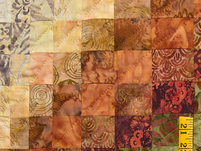 Hand Painted Bargello Wave Quilt Photo 5