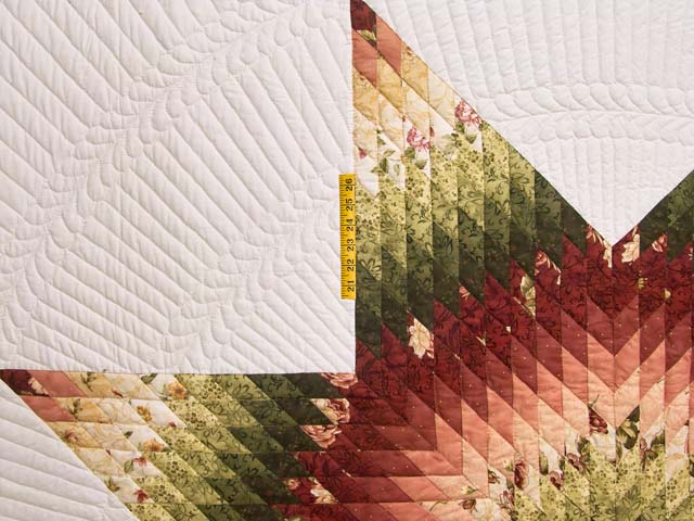 Rose and Green Lone Star Country Bride Quilt Photo 4
