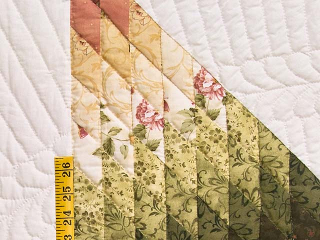 Rose and Green Lone Star Country Bride Quilt Photo 5