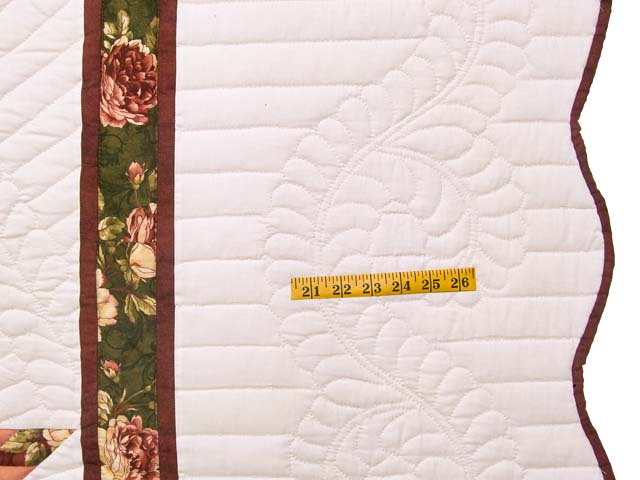 Rose and Green Lone Star Country Bride Quilt Photo 7