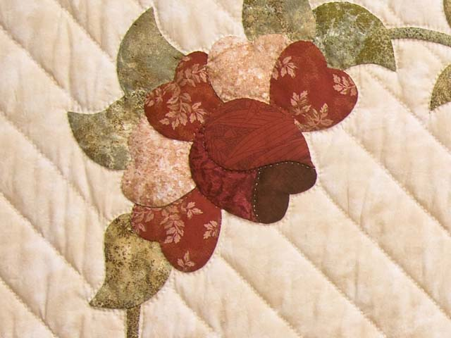 Rose Sage and Taupe Lancaster Treasures Quilt Photo 6