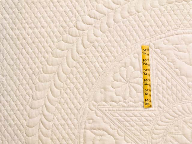 Cream All Quilted Heirloom Quilt Photo 4