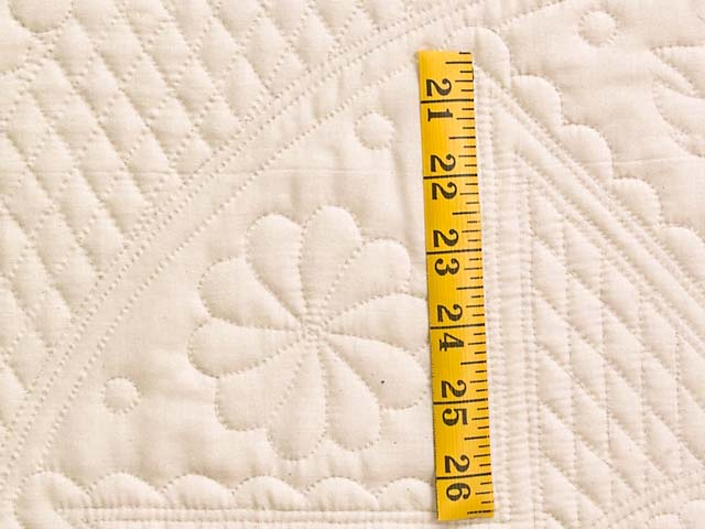 Cream All Quilted Heirloom Quilt Photo 5