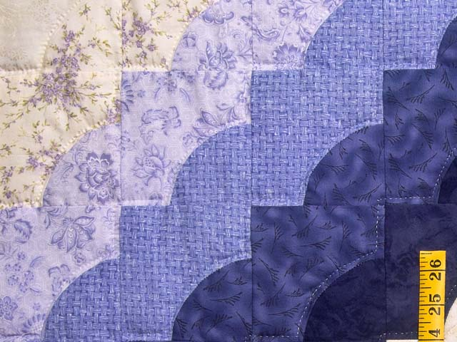 Purple and Green Hearts All Around Applique Quilt Photo 5