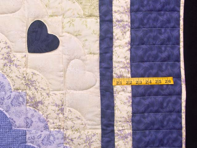 Purple and Green Hearts All Around Applique Quilt Photo 7