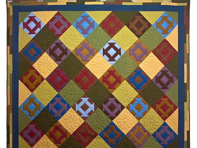 Midwest Amish Churn Dash Quilt Photo 2