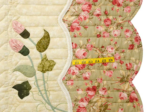 King Pink Rose and Golden Tan Petal Showcase Quilt Photo 7