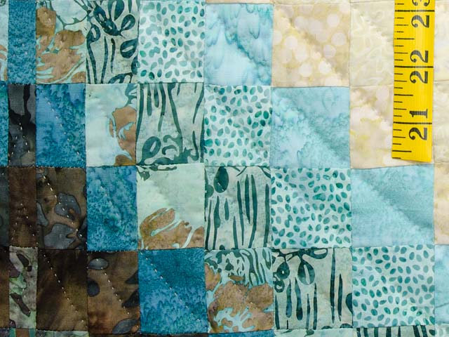 Teal Tan and Brown Lightning Strikes Bargello Quilt Photo 5
